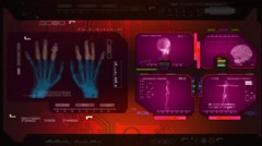 Hands - Advanced Scanning - pink 00 Stock Footage