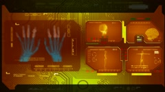 Hands - Advanced Scanning - yellow 00 - stock footage