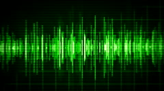 Green high-tech waveform seamless loop Stock Footage