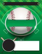 Vector Baseball Tournament Template Illustration Stock Illustration