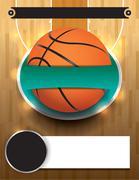 Vector Basketball Tournament Template Stock Illustration