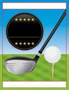 Vector Golf Tournament Flyer Illustration Stock Illustration