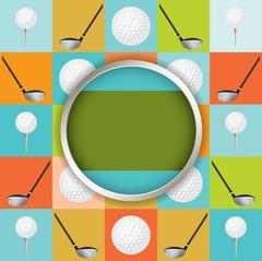 Vector Golf Tournament Illustration Stock Illustration