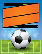 Stock Illustration of Vector Soccer League Flyer Illustration