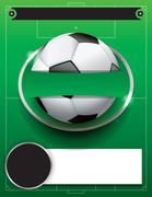 Vector Soccer Football Tournament Template Illustration Stock Illustration