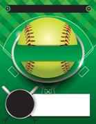 Vector Softball Tournament Template Illustration Stock Illustration