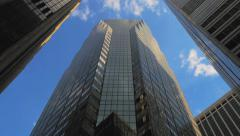 NYC skyscrapers day timelapse sky corporate buildings Manhattan New York City - stock footage