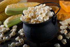 White Cheddar Kettle Corn Popcorn Stock Photos