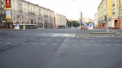 Independence Avenue in Minsk, Belarus - stock footage