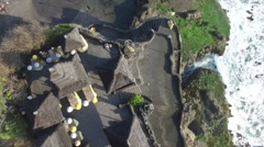 Bali Tanah Lot temple Stock Footage