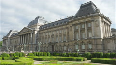 Royal palace of brussels, belgium, timelapse, 4k Stock Footage