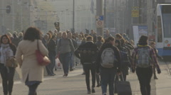 People near Amsterdam Centraal train station - ungraded: c-log Stock Footage