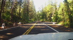 Driver Viewpoint Car On Arizona Hwy 89A In Oak Creek Canyon  - stock footage
