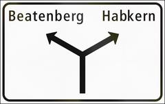 Road sign used in Switzerland - Approaches to junctions on minor road - stock illustration
