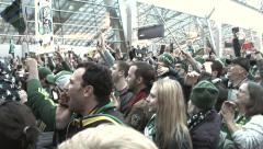 Portland Timbers Coach Lifts MLS Trophy Stock Footage