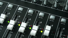 Mixing Console Mixing Desk Stock Footage