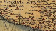 Map of North and South America Stock Footage