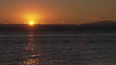 Fraser River Pilot Boat Sunset 4K Stock Footage