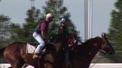 Stock Video Footage of Horses and Jockeys