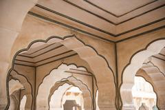 Amazing Architecture in Amer Fort Stock Photos