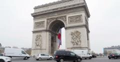 Triumphal Arch - Paris, France, Arc de Triomphe Paris, France - stock footage
