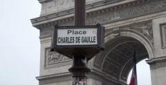 Triumphal Arch - Paris, France, Arc de Triomphe Paris, France Stock Footage