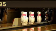 Bowling 4 Pins Left Standing Stock Footage