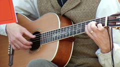 Acustic Guitar with Inlay Stock Footage