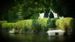2 Women at Dream Garden Stock Footage