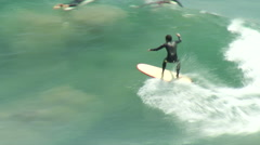 Surfing Smooth Ride Stock Footage