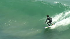 Surfing Cutbacks Top View Stock Footage