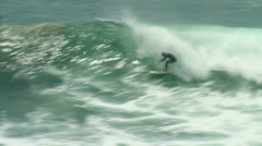 Stock Video Footage of Surf Duck Under Break