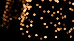 Many Bokeh circles at night Stock Footage