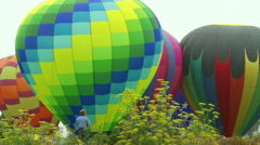 Man Watches Balloons Wide Stock Footage