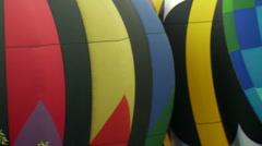 Hot Air Balloon Pan Stock Footage