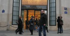 Louis Vuitton Luxury Store, Paris, France - stock footage