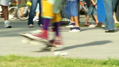 Skateboard Spin Trick Stock Footage