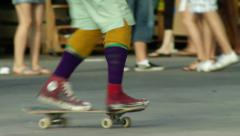 Skateboard Freestyle Walk the Dog Stock Footage