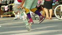 Skateboard Freestyle Switchfoot Pogo Stock Footage