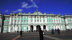 Hermitage Museum (Winter Palace) Building in St.Petersburg Stock Footage