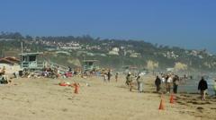 Zuma Beach Summer Stock Footage