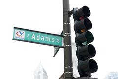 Adams St in Chicago - stock photo