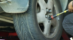 Tighten Lug Nuts Stock Footage
