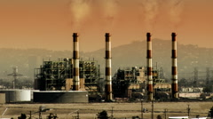 Power Plant Global Warming Stock Footage