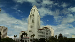 LA City Hall Time Lapse Stock Footage