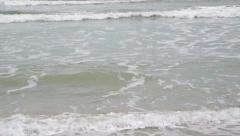 Stock Video Footage of Sea waves in bad weather, slow motion video