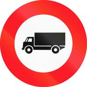 Stock Illustration of Road sign used in Switzerland - large goods vehicles