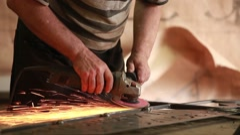 Hand sanding sander Stock Footage