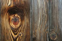 details on fir plank with knots, wooden texture for your design - stock photo
