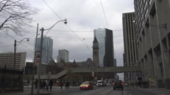 Driving East on Queen St., Toronto Stock Footage